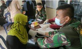 Tim Vaksinator Kodim 0402/Oki Keroyok Vaksin di Kecamatan Kayuagung