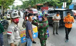 Babinsa Koramil 02/Peninjauan Ikuti Apel Gabungan PPKM Kecamatan Baturaja Timur