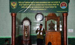 Korem 044/Gapo  Peringati Maulid Nabi Besar Muhammad SAW 1443 H/2021 M