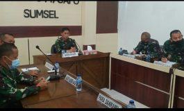 *Danrem 044/Gapo Ikuti Rapat Evaluasi Pelaksanaan Vaksinasi untuk Wilayah Luar Pulau Jawa dan Bali*
