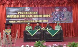 Danrem 044/Gapo Kunjungan Kerja ke Kodim 0418/Palembang