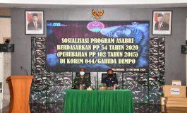 Jajaran Korem 044/Gapo Ikuti Sosialisasi PT ASABRI ( Persero)